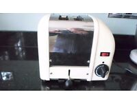 Dualit Classic 2 slice toaster in cream - variable timer