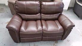 Furniture Village Jemima Grey Leather Corner Sofa Armchair Can