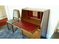 Solid wood & leather medicine/works cabinet.