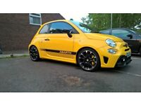 The Abarth595 Competizione in yellow