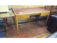 Vintage 1960's Leather Top Office Desk