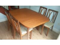 G-Plan Dining Room Table and Four Chairs