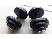 BODYMAX DELUXE 20KG RUBBER DUMBBELL WEIGHTS SET