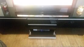 IKEA black high gloss tv unit + storage unit £130 ONO