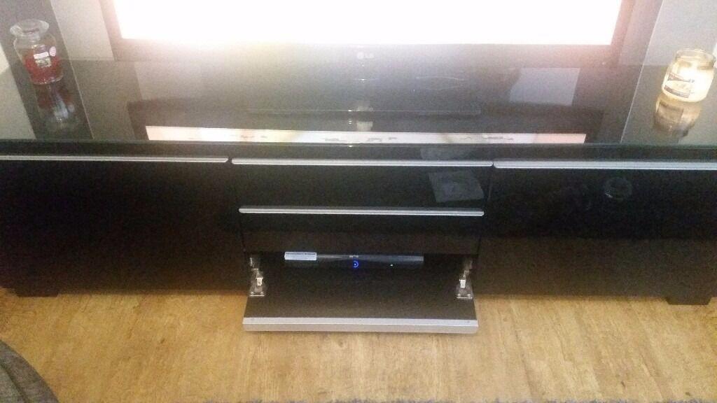 IKEA black high gloss tv unit + storage unit £130 ONO