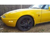 MSW 16 inches alloy wheels 4 stud black not MX5, Honda, MG, Vauxhall, Mini, Ford, Toyota, Peugeot