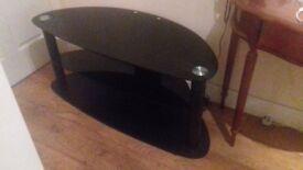 dark smoked glass tv stand