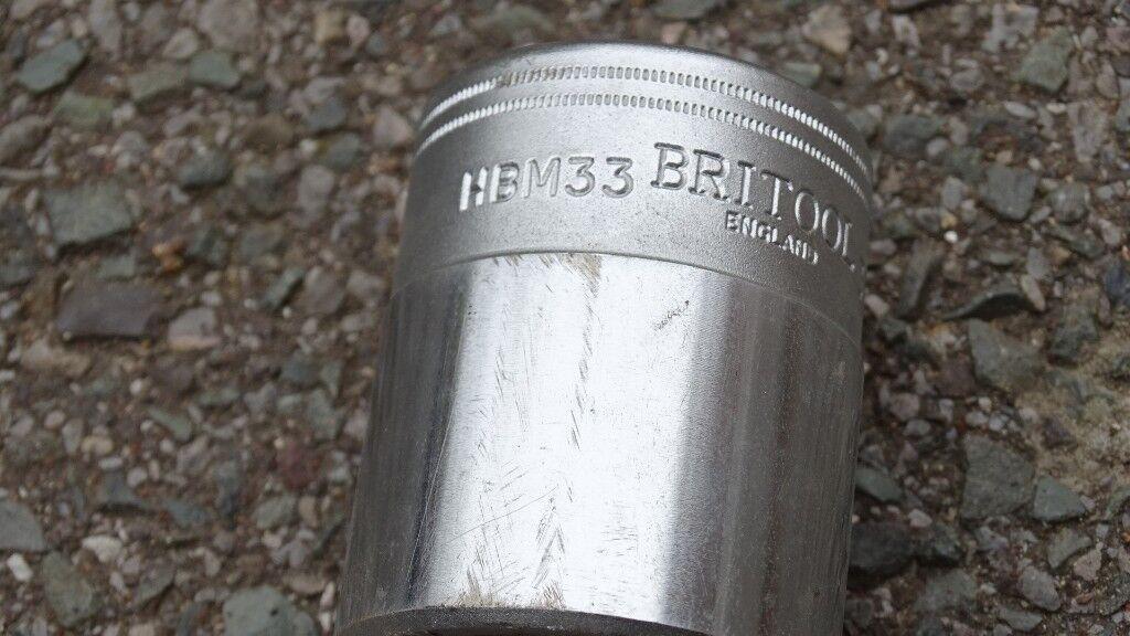 "Britool 33mm Bi-Hexagonal HBM33 Socket with 3/4"" Square Drive"
