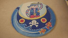 Child's / Kid's bedroom large pirate rug approx 1.5 m across