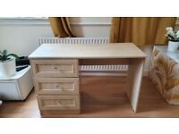 Desk / Vanity dresser with 3 spacious drawers
