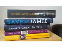 Five Jamie Oliver cookbooks