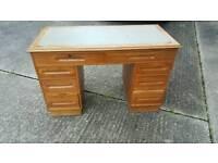 Mid century pedestal desk