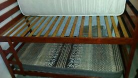 standard size wooden bunk bed