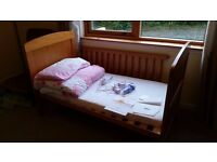'Winnie the Poo' Cot Bed. Included in price is Baby Monitor.