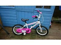 "Girls BMX Hello Kitty Bike 16"" wheels"