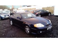 2003 03 HYUNDAI COUPE 2.0 FULL MOT FULL LEATHER GOOD LOOKING CAR PX TO CLEAR £495