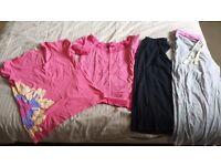 Ladies size 14 bundle: pj bottoms, tshirt and Roxy 3/4 sleeve top