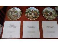 John L Chapman's Life on the Farm Decorative plates