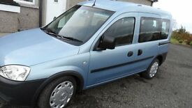 2011 vauxhall combo tour wheelchair adapted vehicle with 4 seats + wheelchair