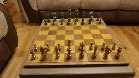 Vintage complete chess set & Box