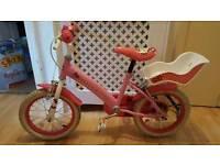 """Girls bike 14"""" and motor bike ride on"""