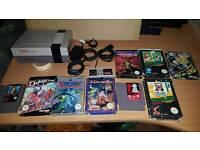 Nintendo nes console + 9 games