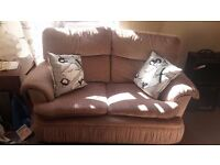 Vintage 3 Piece Suite Retro 2 Double Sofas 2 Rocking Chair