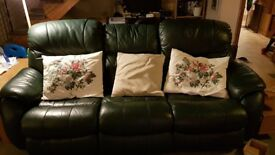3 seater reclining leather sofa, and single reclining seat