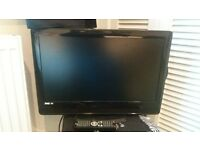 TV WITH BUILT IN DVD PLAYER. COMES WITH REMOTE CONTROL