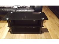 Black Glass TV Stand ***SOLD***