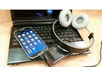Samsung S4, Sony VGN-TZ21WN ULTRASLIM NOTEBOOK, Studio Bluetooth headset, Nokia xpressmusic phone