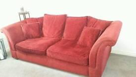 3 seater sofas (wine colour)