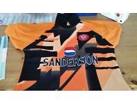 Saints FC shirts. 1976 replica short sleeve shirt size large .Goalkeeper top 1990s.
