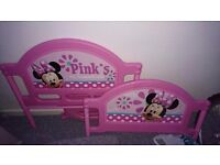 Child's Minnie mouse bed