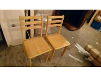 A pair ofOak Dinning Chairs