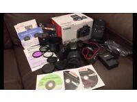 Canon EOS 450D Professional DSLR camera (w/18-55mm canon lens & 70-300mm sigma lens