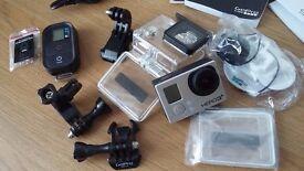 GoPro HERO3+ black edition with remote control