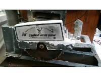 Radial arm saw bench saw