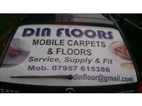 Mobile flooring and carpet service