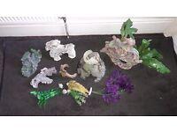Various Fish Tank Ornaments Job Lot