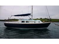 26' SAILING CRUISER 6 BERTH, ENGINE 20HP DIESEL LIKE NEW, GREAT VALUE £8850