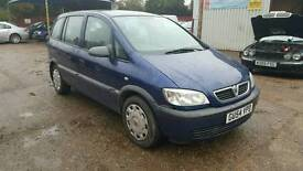 Vauxhall Zafira 7 seater 1.6 54 plate new clutch sold.with full mot