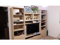 Ikea Besta TV unit with shelfs
