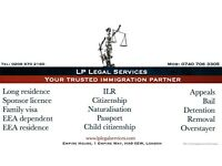 Immigration Lawyer, EEA PR Application, ILR, Tier 1, Tier 2, Tier 4, Appeal, Bail etc...