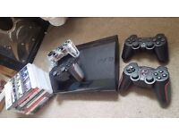 PS3 Console - 4 Controllers & PS3 Games