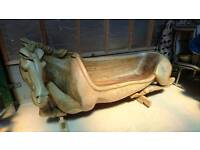 Oak hand made Horse style three seater chair