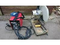 Metal chop saw and gasless MIG welder