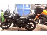Honda Cbf 125, very Low millage and great condition. Comes with heated grips and top box