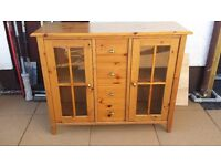 Small Pine Display Cabinet