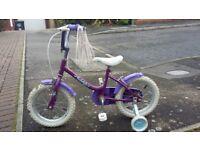 """Girls 24"""" bike with stabilisers"""